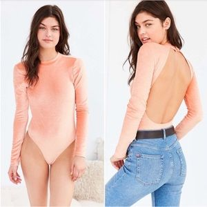 NWT Urban Outfitters Small Velvet Bodysuit